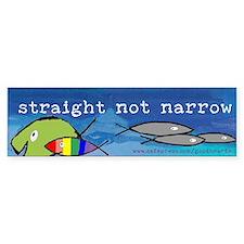 Straight But Not Narrow Bumper Bumper Sticker