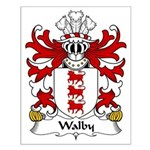 Walby Family Crest Small Poster
