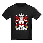 Valle Family Crest Kids Dark T-Shirt