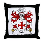 Valle Family Crest Throw Pillow