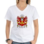 Umfreville Family Crest Women's V-Neck T-Shirt