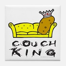 COUCH POTATO Tile Coaster