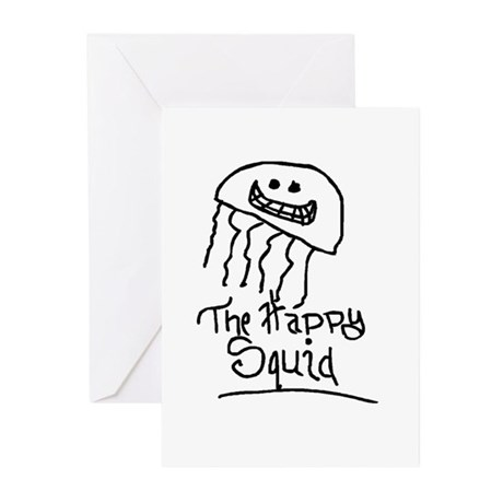 Happy Squid Greeting Cards (Pk of 10)