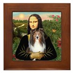 Mona Lisa's Sheltie (S) Framed Tile