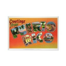 Puerto Rico Greetings Rectangle Magnet (10 pack)