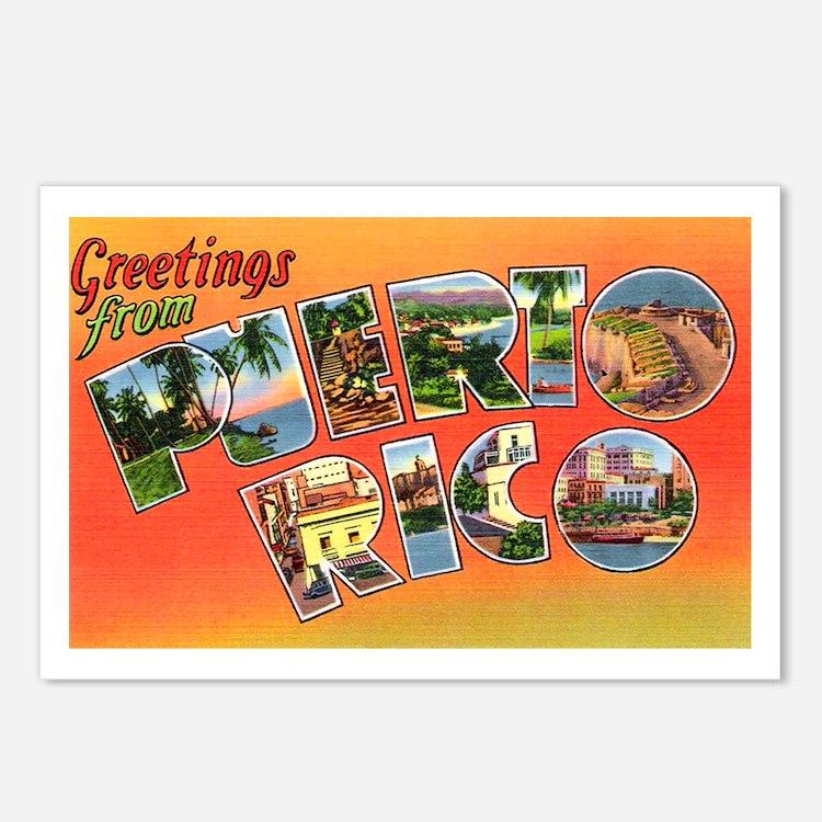 Puerto Rico Greetings Postcards (Package of 8)