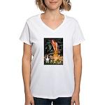 MidEve Sheltie (S) Women's V-Neck T-Shirt