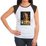 MidEve Sheltie (S) Women's Cap Sleeve T-Shirt