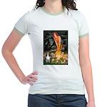 MidEve Sheltie (S) Jr. Ringer T-Shirt