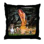 MidEve Sheltie (S) Throw Pillow