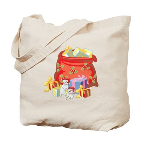 Baby Ferrets And Santa's Gift Bag Tote Bag