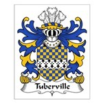 Tuberville Family Crest Small Poster