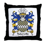 Tuberville Family Crest Throw Pillow