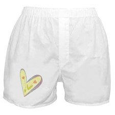 YELLOW HEART WITH TULIPS Boxer Shorts