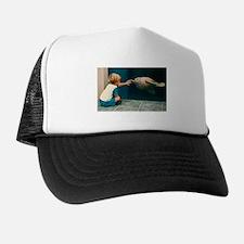 Boy and Turtle Trucker Hat