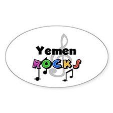 Yemen Rocks Oval Decal