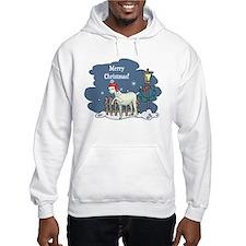 Santa Goat Christmas Hoodie