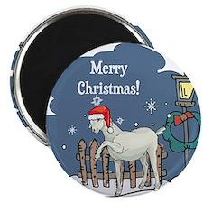 Santa Goat Christmas Magnet