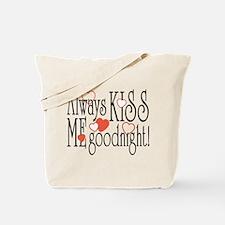 Kiss Me Goodnight Hearts Tote Bag