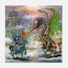 Unique Slay the dragon Tile Coaster