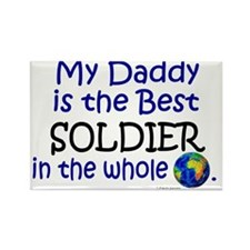 Best Soldier In The World (Daddy) Rectangle Magnet