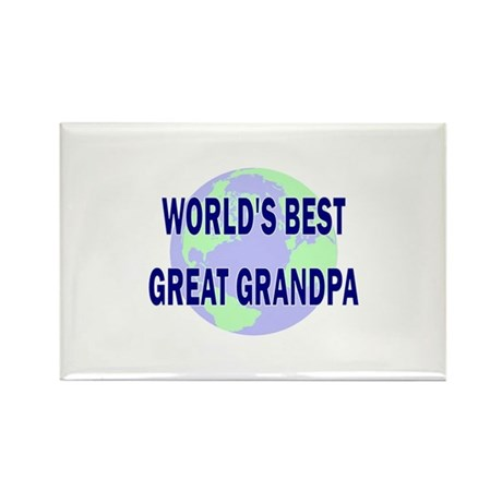 World's Best Great Grandpa Rectangle Magnet (10 pa