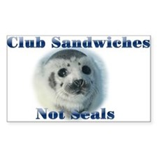 Club Sandwiches Rectangle Decal