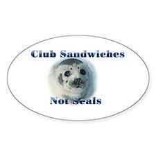 Club Sandwiches Oval Decal