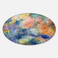 Abstract Oval Decal