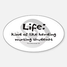 Like Herding Nursing Students Oval Decal