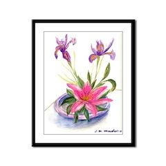 Flower #1 Framed Panel Print