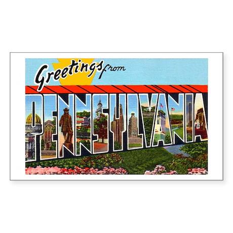 Pennsylvania Greetings Rectangle Sticker