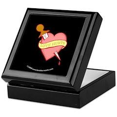 Tattoo Heart Black Keepsake Box