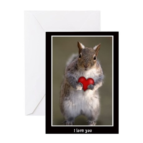 Valentine's Day Squirrel i love you Greeting Card