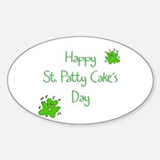 Baby's First St. Patrick's Day Oval Decal