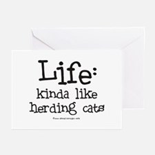 Life - like Herding Cats Greeting Cards (Pk of 10)