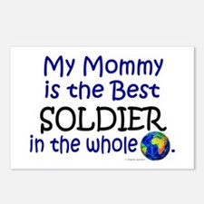Best Soldier In The World (Mommy) Postcards (Packa