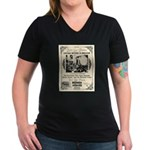Birdcage Theater Women's V-Neck Dark T-Shirt