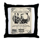 Birdcage Theater Throw Pillow