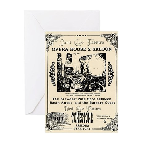 Birdcage Theater Greeting Card