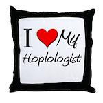 I Heart My Hoplologist Throw Pillow