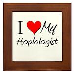 I Heart My Hoplologist Framed Tile