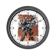 Motocross Grunge Wall Clock