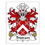 Tristram Family Crest Small Poster