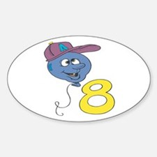 Eighth (8th) Birthday Oval Decal