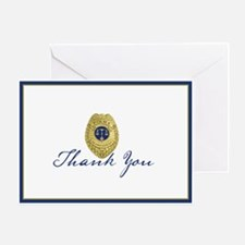 Police Badge Greeting Card