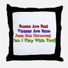 Divorced Valentine Throw Pillow