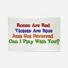 Divorced Valentine Rectangle Magnet