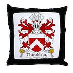 Thimbleby Family Crest Throw Pillow