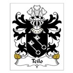 Teilo Family Crest Small Poster